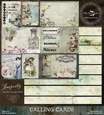 Blue Fern Studios 12x12 Paper: Tranquility Collection - Calling Cards