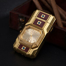 Multifunctional Lighter Gold Quartz Light Watch For Men