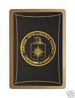 INTELLIGENCE COMMUNITY CIA, BLACK ICE PLAYING CARDS BLACK & GOLD, BOXED, NEW