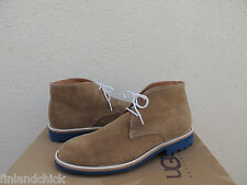 UGG ITALIAN COLLECTION ORAZIO BEIGE SUEDE ANKLE BOOTS, US 10.5/ EUR 44 ~ NEW