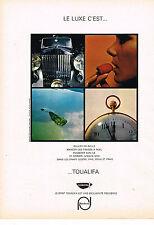 PUBLICITE ADVERTISING  1967   TOUALIFA   draps linge de maison