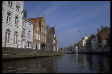 579069 Historical Houses By The Canal Bruges Belgium A4 Photo Print