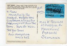 TONGA picture postcard to Scotland (C9660)