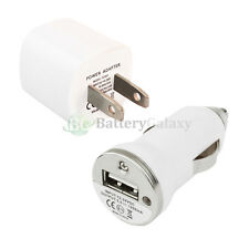 "2 Pack USB Mini Wall AC+Car Charger Adapter for Apple iPhone 6 6s Plus 4.7"" 5.5"""