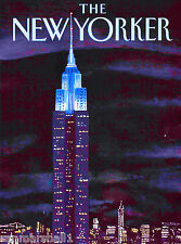 New York Yorker Empire State Building United States Travel Advertisement Poster