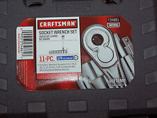 New Craftsman 1/4-IN Drive Socket & Ratchet 11 Piece Metric Set with storage box