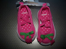 NWT GYMBOREE BRIGHT TULIP PINK CANVAS SHOES INFANT SIZE 03  Free US Shipping