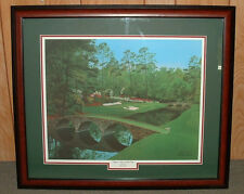 "Framed - 12th at Augusta golf print   MASTERS = 21"" x 25"""