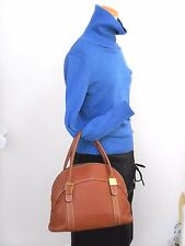 Authentic BURBERRYS Genuine Leather Hand Bag Purse Brown Excellent Condition 706