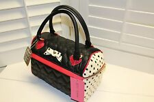Betsey Johnson Speedy Lunch Box Tote Bag Insulated black, ivory and red NWT