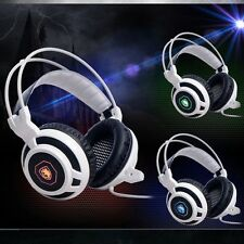 Sades Stereo 7.1 Surround Headset USB Headband PC Notebook Pro Gaming w/Mic cs