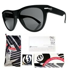 NEW Electric Visual Arcolux Gloss Black Grey Mens Round Sunglasses Msrp$120