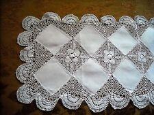 """Linen & Crochet 34"""" Table Runner Purchased in Dublin, Ireland"""