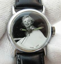 MARILYN MONROE,1987 B&W Dial Manual Wind ,Leather Band,MINT,LADIES WATCH,1043