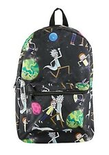 Rick & Morty Universe Cartoon Network Backpack School Book Bag Gift NWT!