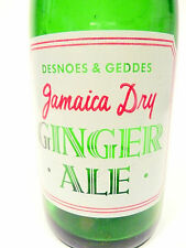 vintage ACL Soda POP Bottle: green JAMAICA DRY GIN. ALE of  JAMAICA, W.I - 7 oz