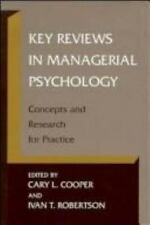 Key Reviews in Managerial Psychology: Concepts and Research for Practi-ExLibrary