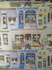 Vintage Main Street Shops Window Curtain panel Cafe 14037 42 X 34 Inches Cotton