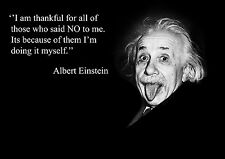 ALBERT EINSTEIN INSPIRATIONAL / MOTIVATIONAL POSTER