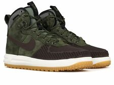 Nike Lunar Air Force 1 Duckboot SZ 11.5 Baroque Brown Olive Green 805899-200