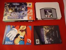 Star Wars: Shadows of the Empire (Nintendo 64, 1996) N64 COMPLETE w/ Box #J1