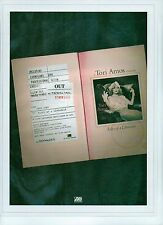 TORI AMOS Tales of A Librarian UK magazine ADVERT / Poster/clipping 11x8 inches