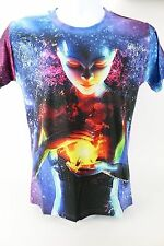 T Shirt Mr.BAO LONG Ladies S  Anime ALL OVER PRINT GRAPHIC Space Rainbow Goddess