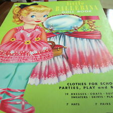 1961 Lowe's LITTLE BALLERINA PAPER DOLL Vintage Uncut Big doll