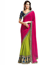Veeraa Bollywood Designer Sarees- multi colour Party Wear Saree With Blouse 174