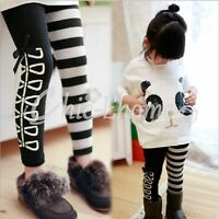Mädchen Kinder Leggins Strech Hosen Leggings Jeggings Treggings Tight 98-128 NEU