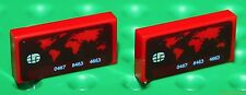 Lego Red Tile 1x2 Custom Printed  Bank Card Design NEW