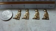 ox brass castings findings SITTING CAT CHARM  (4) A430
