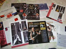 MSG Michael Schenker Rare Collection Clippings 19 pages Gear Detail