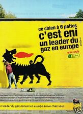 Publicité advertising 2012 Eni Leader gaz naturel