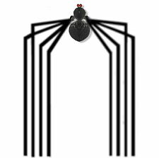 GIANT WHOLE ROOM CEILING SPIDER HALLOWEEN DECOR HANGING GARLAND LARGE LEGS WEB