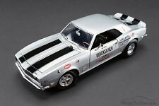 1968 Chevy Camaro Quick Silver Silver Acme 1805702 1/18 Scale Diecast Model Car