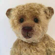 NWT Hovvig Artist Mohair Bear by Yvonne Graubaek Denmark 16 Inch Leather Pads