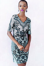 Anthropologie Sketched Lace Dress By Yoana Baraschi MSRP $188 NWT New Sz. 10