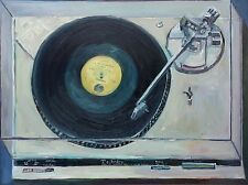 "Technics record player by Mr Let's Paint TV (John Kilduff) Large 30""x40"""