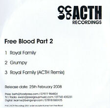 FREE BLOOD PART 2-ACTH Records Royal Family CD (3) Track 2008