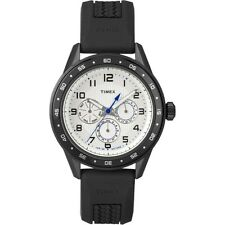 Timex T2P045, Black Resin 3-Eye Watch, Day/Date/Hour, T2P0459J