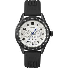 Timex T2P045, Men's Black Resin 3-Eye Watch, Day/Date/Hour, T2P0459J