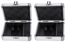 2) Odyssey KCC2PR2SL KROM PRO2 2x Turntable Needle Cartridge Travel Cases SIlver