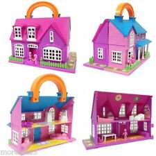 DOLLS HOUSE PLUS 18 PIECE ACCESSORIES CARRY ALONG SET CHILDREN'S GIRLS GIFT TOY