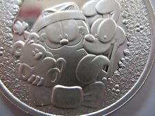 1-OZ .999 SILVER CHRISTMAS GARFIELD PAWS ENGRAVABLE COIN SILVERTOWNE + GOLD