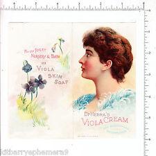 6398 Dr. Hebra Viola Cream c 1890 flier skin G C Bittner Toledo OH medical soap