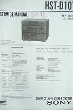 Service Manual Sony HST-D107,ORIGINAL