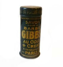 Boite tôle litho savon GIBBS's 1900 French lithographed Tin Box 1900s