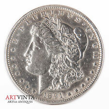1891 Morgan One Dollar Silver Silber Münze USA Amerika Coin Liberty