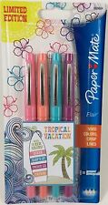 Paper Mate Flair Medium Point Felt Tip Pens 4 Pk Tropical Vacation Limited Ed.
